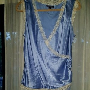 EUC Banana Republic Blue Silk Blouse